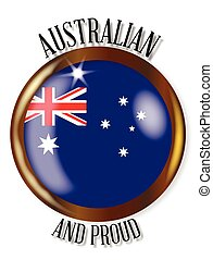 Australia Proud Flag Button