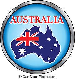 Australia Round Button