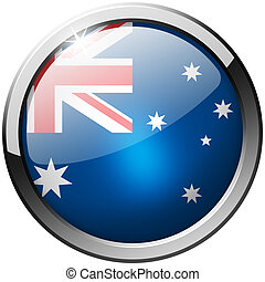 Australia Round Metal Glass Button