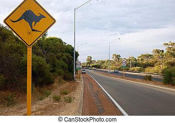australia, segno strada