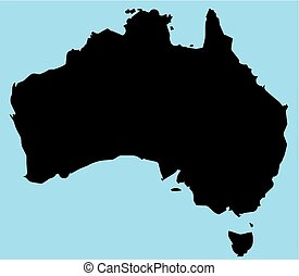 Australia Silhouette Map