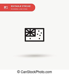 Australia Simple vector icon. Illustration symbol design template for web mobile UI element. Perfect color modern pictogram on editable stroke. Australia icons for your business project