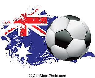 Australia Soccer Grunge Design