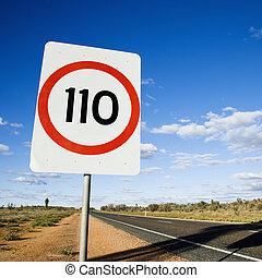 Australia speed limit sign - Speed limit kilometer per hour...