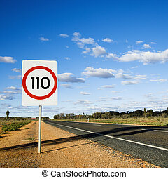 Australia speed limit sign