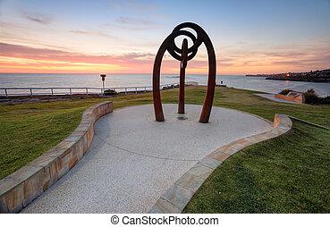 australia, spiaggia, bali, alba, coogee, commemorativo