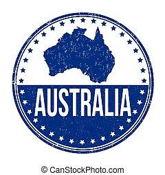 Australia stamp - Australia grunge rubber stamp on white ...