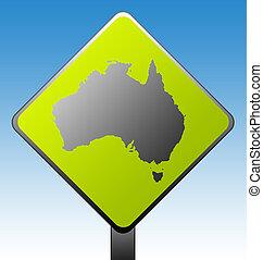 australia, straße zeichen