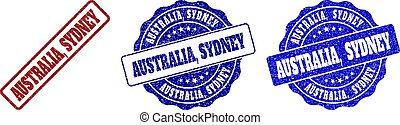 AUSTRALIA, SYDNEY Scratched Stamp Seals