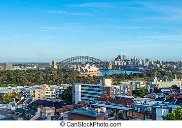 australia, -, sydney, vista
