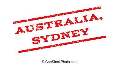 australia, sydney, watermark, briefmarke