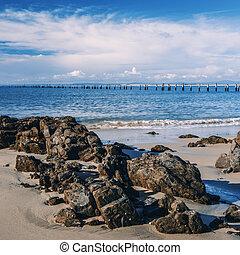 australia., tasmania, hermoso, bridport, playa