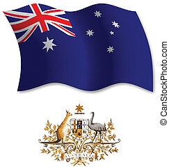 australia textured wavy flag vector