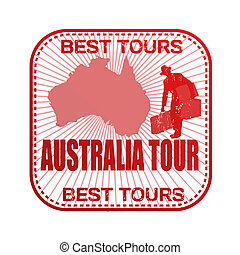 Australia tour stamp