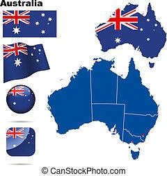 Australia vector set.