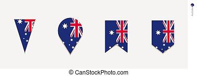 australia, verticale, illustrazione, bandiera, vettore, disegno