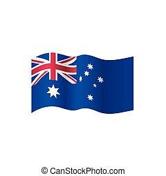 australia, vettore, bandiera, illustrazione