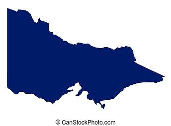 Australia Victoria State Silhouette - Silhouette map of the ...