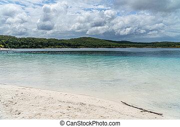 australia, wasser, fraser, türkis, island see, blaues