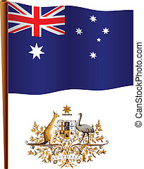 australia wavy flag