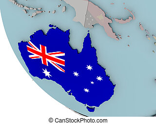 Australia with flag illustration