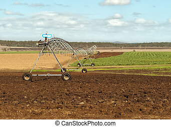 Australian agriculture rural irrigation on sugar cane farm