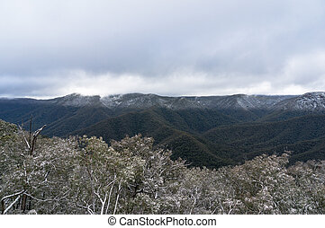 Australian Alps, Snowy Mountains covered with snow