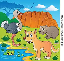 Australian animals theme 5 - vector illustration.