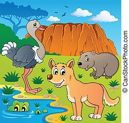 Australian animals theme 5 - vector illustration.