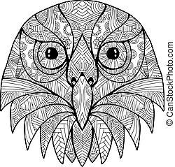 Australian Barking Owl Mandala - Mandala style illustration...