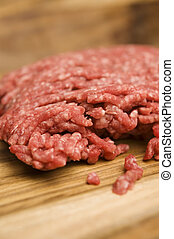 Australian beef Mince - Close up of australian beef mince on...