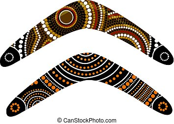 Australian boomerang vector.