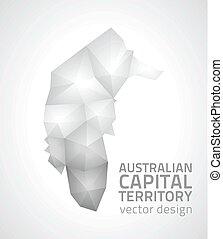 Australian Capital Territory graphic polygonal mosaic vector triangle map