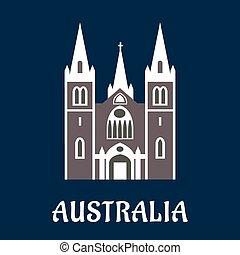 Australian cathedral church flat icon - Australian landmark...