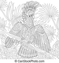 Australian cockatoo parrot - Coloring page of australian...