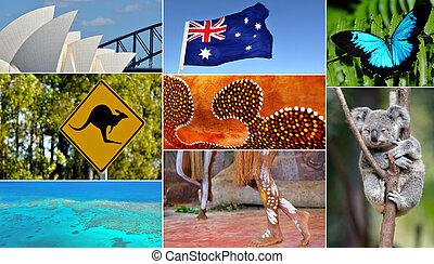 Australian collage. Travel Australia