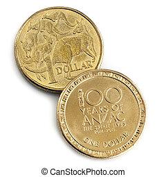 Australian Commemorative ANZAC Coin Isolated