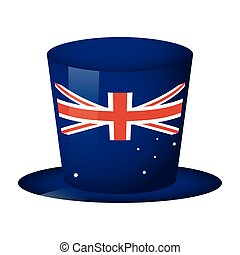 australian country flag in tophat vector illustration design