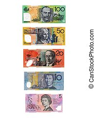 Australian Currency - Australian currency isolated against a...