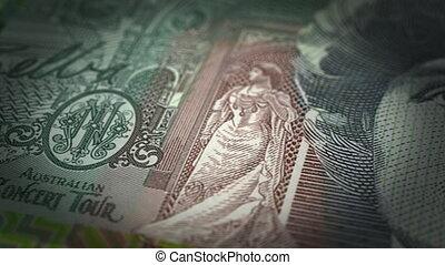 Australian Dollar Close-up (seamless)