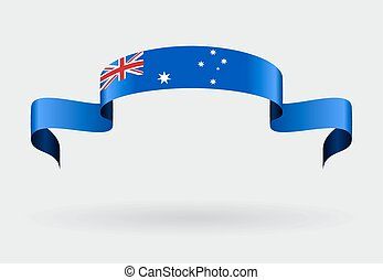 Australian flag background. Vector illustration.
