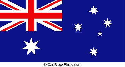 Australian flag, flat layout, vector illustration
