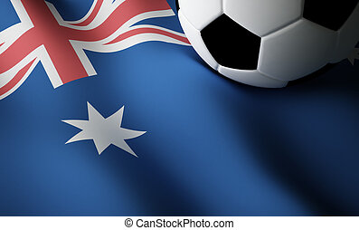 Australian flag, football
