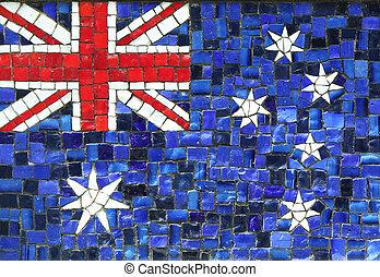 Australian Flag in Mosaic