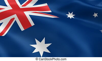 Australian flag in the wind. Part of a series.