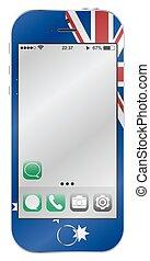 Australian Flag Mobile Phone
