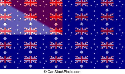 Australian flag on infinite zoom