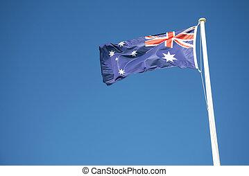 australian flag outdoors on sunny day