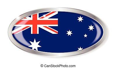 Australian Flag Oval Button