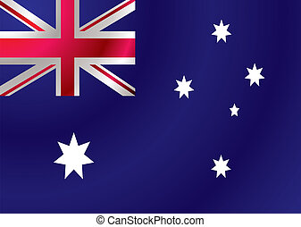 Australian flag ripple - Australian flag with a wind ripple...